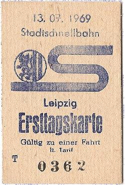 S-Bahn Leipzig, Ersttagskarte
